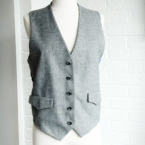 Reversible Plaid and Grey Vest